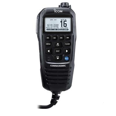 Icom Commandmic Iv With White Backlit LCD In Black - HM195GB