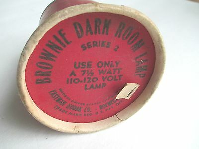 ANTIQUE DARKROOM LAMP / LIGHT -  Kodak Brownie series 2 - U.S.A. Rochester N.Y.