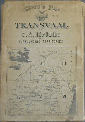 Jeppe's Map of the Transvaal or S A Republic and Surround Territories - 6 Maps