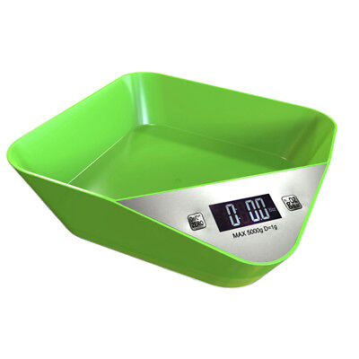 5kg Modern Green Digital LCD Electronic Kitchen Cooking Food Weighing Scales