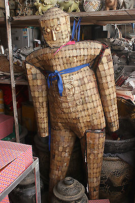 160cm Collect Chinese Old Jade Jadeite Hand-carved splice Jade clothes armor