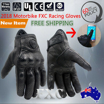 SHORT STYLE PREMIUM A GRADE PERFORATED SUMMER/WINTER MOTORCYCLE GLOVES size M-XL
