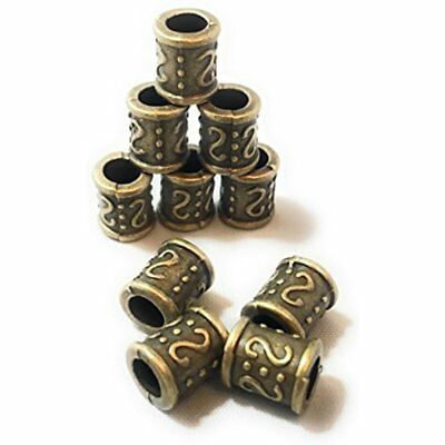 10 PCS Bronze Ancient Greek Roman Viking Rune Chains Vikings Beads Bracelets