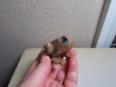 Frog or Toad, Hand carved Marble from the Andes in Peru, Rich Hued Stone, Unique