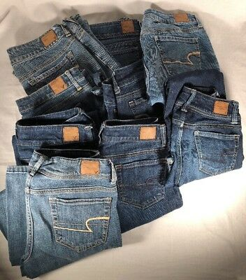 9 Womens American Eagle Jeans Assorted Sizes Resell Flip Lot Wholesale
