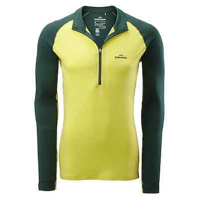 Kathmandu Flinders Men's Merino Wool Hiking Walking Thermal 1/4 Zip Top