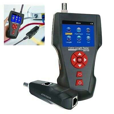 Digital Network Cable Tester Error Detector PING POE Function RJ45 RJ11 BNC Coax