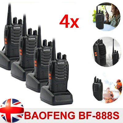 4x Walkie Talkie UHF 400-470MHz 5W 16CH BF-888S Portable Two-Way Radio AU Stock