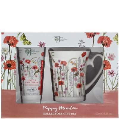 Bronnley Poppy Meadow Hand Cream 100ml & Mug | Brand New | Free Delivery