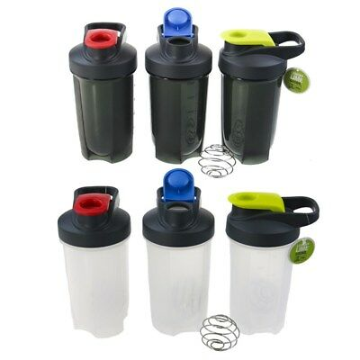500ml SPORTS DRINK WATER BOTTLE PROTEIN GYM SUPPLEMENT SHAKER MIXER SCREW TOP