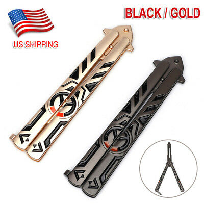 Overwatch Balisong Butterfly Knife Trainer Training Practice Tool Metal Steel