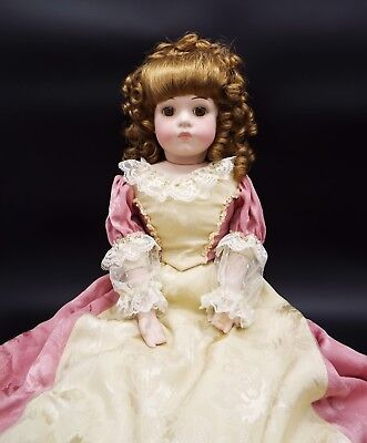 "ANTIQUE REPRODUCTION marked BRU JNE 11 porcelain bisque DOLL 22"" TALL w clothes"