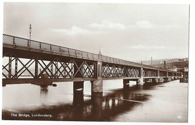 LONDONDERRY The Bridge, RP Postcard by E.Doherty & Sons, Derry, Unused