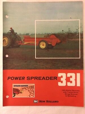 New Holland #331 Manure Spreader brochure from 1960