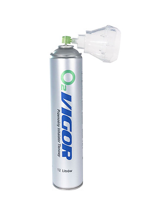 Pure 99.4% Oxygen 12 Litre(12000 ml) can with Mask, fast shipping