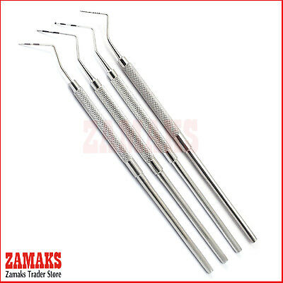 Set Of 4 Dental Periodontal Probes Pocket Depth Perio Tooth Probes Screening New