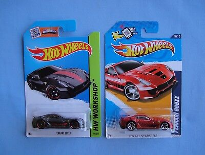 2012 2013  HOT WHEELS    Ferrari  599XX  Black + Red    In Stock! .
