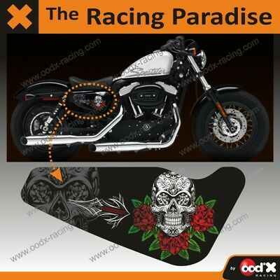 Sticker SKULL ROSES Harley Sportster Forty-eight Iron 883 1200 Custom Superlow
