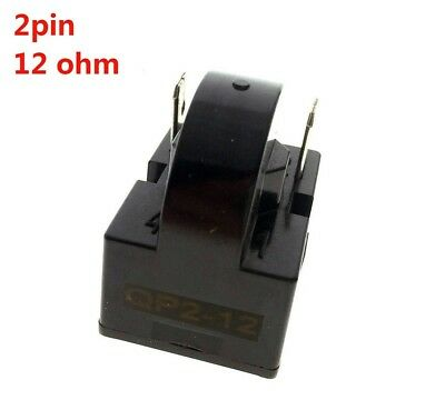 (12ohm 2Pins) - YXQ PTC Relay 12Ohm 2Pin Starter for Refrigerator Black