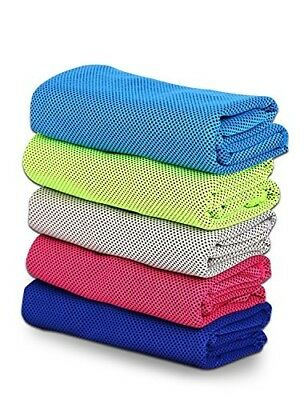 (Sky Blue) - LinPin Evaporative Cooling Double Colour Towel,sports/fitness
