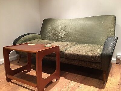 Vintage 3 seater Sofa 1950's Retro Modernist Teak Danish?
