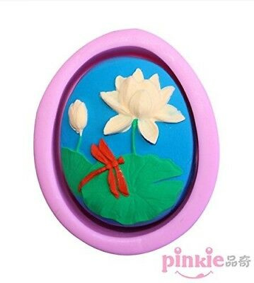 Pinkie Tm Lotus Dragonfly Silicone Soap Mould Chocolate Clay Resin Mould