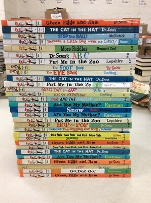 Lot of 10 Dr Seuss Beginner Books & Bright and Early Books! Free Shipping!