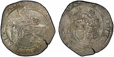 ENGLAND Charles I (1643-45)-Rose AR Halfcrown. PCGS AU55 Exeter S.3065 Lustrous