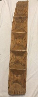 Early Primitive Wood Bread Mould With Compartments & Nice Grain ~ PR428