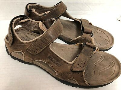 4c216f2ae94a TEVA MENS FOSSIL Canyon 6101 Waterproof Leather Sport Sandals Size ...