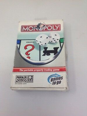 2005 Travel MONOPOLY UK LONDON Ed. Property Trading Board Game Hard Carry Case