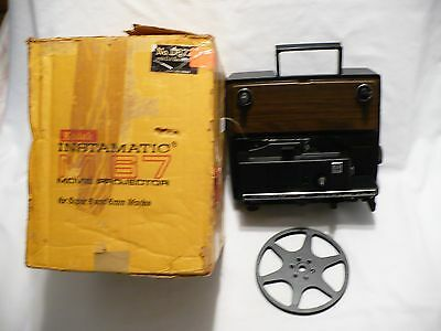 Vtg KODAK Instamatic M67Z Movie Projector 8mm Super 8 w Original Box Reel repair