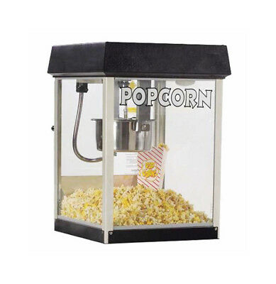 Global Solutions by Nemco 4oz Tempered Glass Popcorn Popper w/ Removeable Kettle