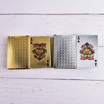 Waterproof Silver 3D Embossing Poker Cards Advanced Plastic Playing Card G4