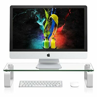 Monitor Riser Laptop For Computer Screen LCD TV Mac Desktop Stand Table Shelf