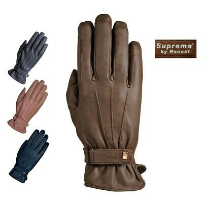 (10, Navy) - Roeckl - Winter Suprema riding gloves WAGO. Shipping is Free