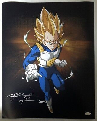Chris Sabat Signed Autographed 16x20 Photo Dragon Ball Z Vegeta JSA COA 3