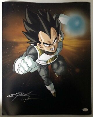 Chris Sabat Signed Autographed 16x20 Photo Dragon Ball Z Vegeta JSA COA 4