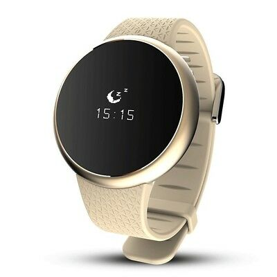(Gold) - Smart Bracelet Activity Tracker With Heart Rate Monitor, Fitness