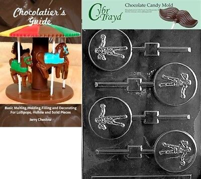 Cybrtrayd Boxing Lolly Sports Chocolate Candy Mould with Chocolatier's Guide