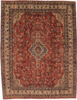 Charming Hand Knotted Vintage Persian Wool Rug Oriental Area Carpet 10X13