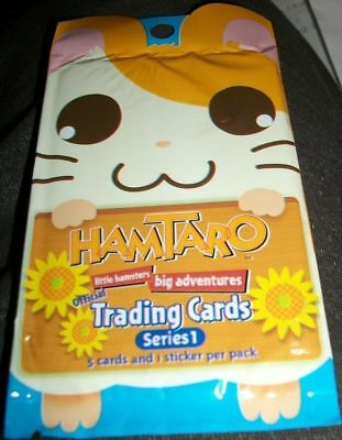 Hamtaro 5 Trading Cards 1 Sticker Series 1 Pack SEALED Artbox 2002