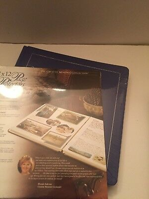 Creative Memories 12x12 album w/pages NIP Blue Natural pages and Page protectors