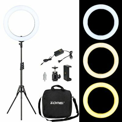 "18"" LED Ring Light Dimmable 5500K Lighting For Camera Photography Video stand"