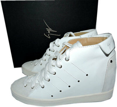 e3b2c80ee4 Giuseppe Zanotti Soma Hidden Wedge Studded White High Top Sneakers 40 Shoes