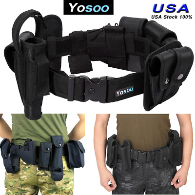 10 In 1 Utility Tactical Army Police Guard Security Duty Belt Waistband Band USA