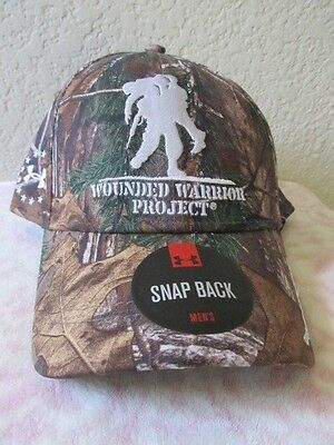 Under Armour Men s Wounded Warrior Project Snap Back Cap Hat Camo RealTree  New A 332867b9c70b