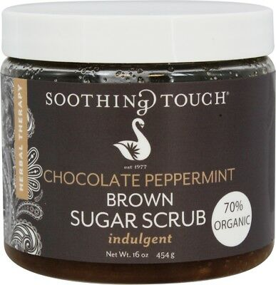Brown Sugar Scrub, Soothing Touch, 16 oz Chocolate Peppermint