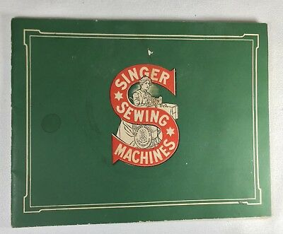 1913 Catalog SINGER SEWING MACHINE Reference Samples Treadle Cabinets Base Stand
