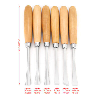 6pc Steel Hand Chisels Set Professional Wood Carving Tool DIY Woodworking Gouges